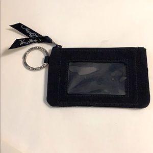 🌷Black Vera Bradley Wallet ID Keychain